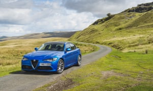 The road ahead: the Giulia punches well above its weight