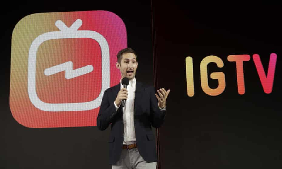 Kevin Systrom, CEO and co-founder of Instagram, announces the new IGTV app in San Francisco.
