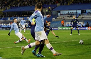 Foden gets City goal number four.