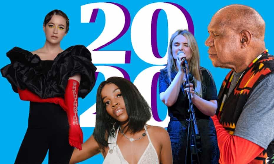 Composite image of Washington, Tkay Maidza, Emma Swift and Archie Roach