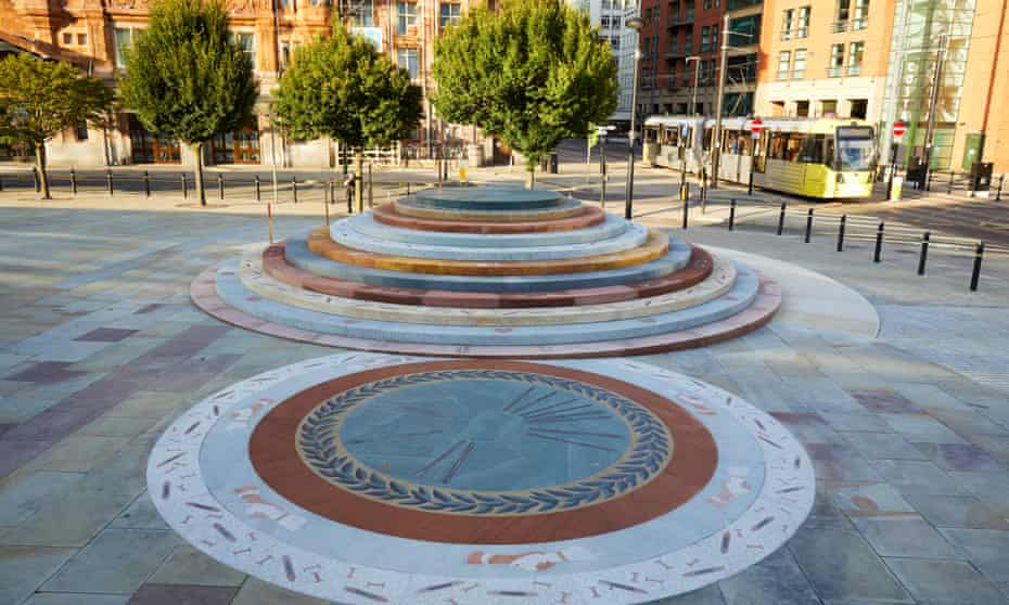 The memorial to the Peterloo massacre, designed by Jeremy Deller.