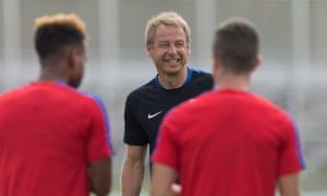 USA coach Jürgen Klinsmann in training before the game.