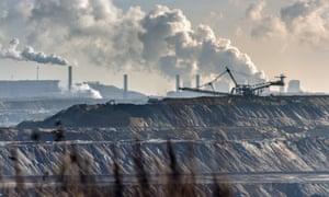 Brown coal mining in North Rhine-Westphalia, Germany.