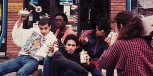 On the set of Bombin' documentary, 1987