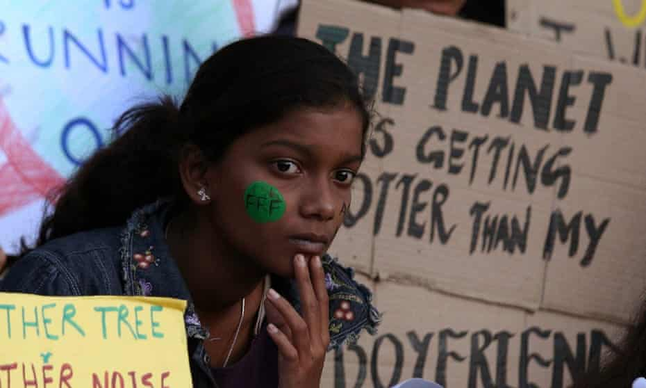 A climate crisis protest in India