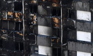 White cladding pictured on the Grenfell Tower during the fire