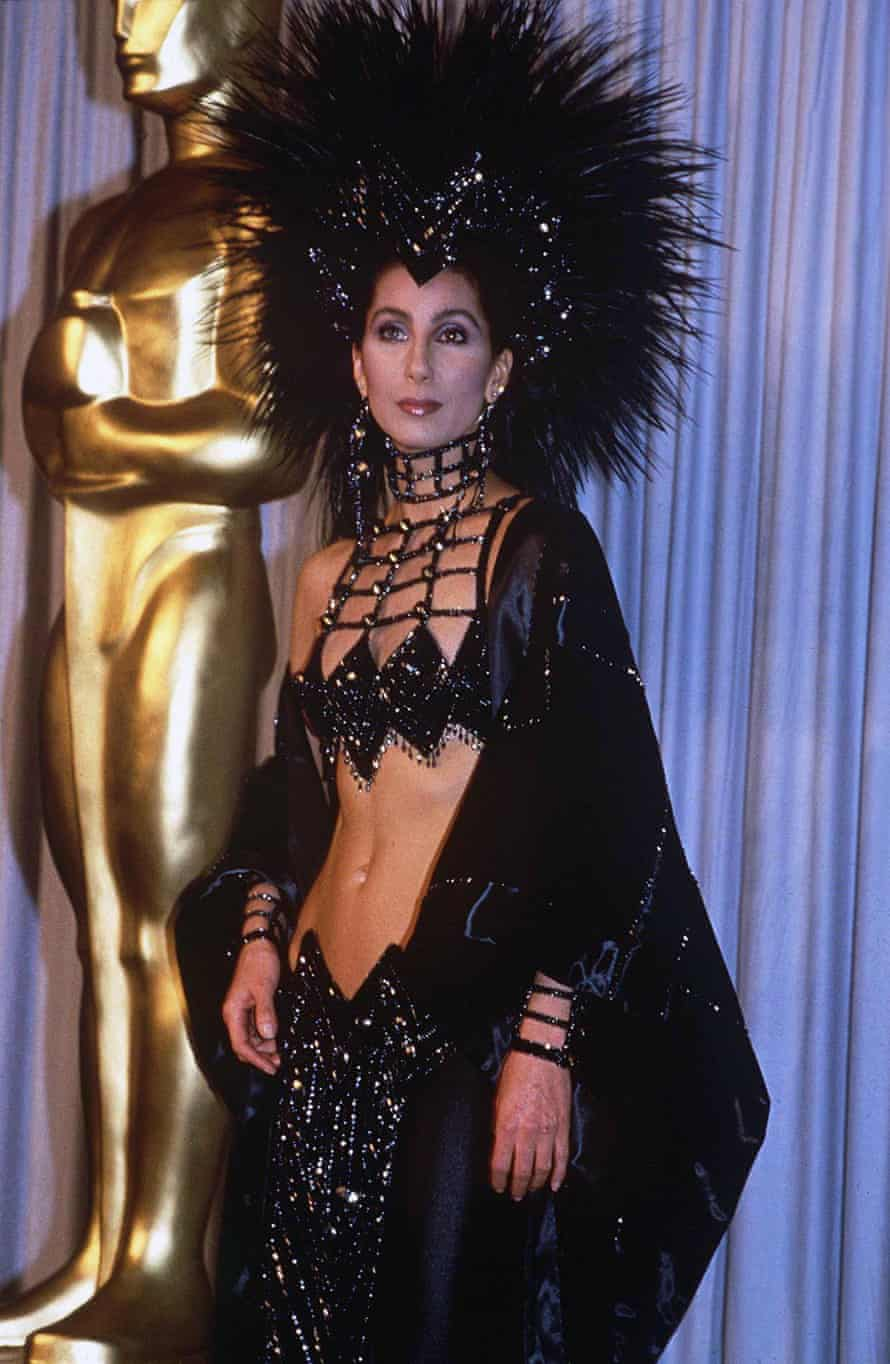 Cher at at the Annual Academy Awards, Los Angeles, 1986.