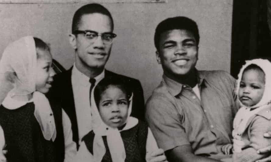 Malcolm X and Muhammad Ali with their children