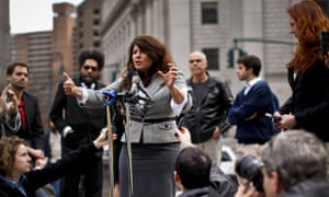 Lawsuit announced against the indefinite detention provisions of NDAA<br>New york city, United States. 29th March 2012 -- Political consultant Naomi Wolf speaks at the news conference. -- Political consultant Naomi Wolf speaks at a news conference announcing a lawsuit against indefinite detention provisions in the National Defense Authorization Act, which was signed in to law by U.S. President Barack Obama at the end of 2011.