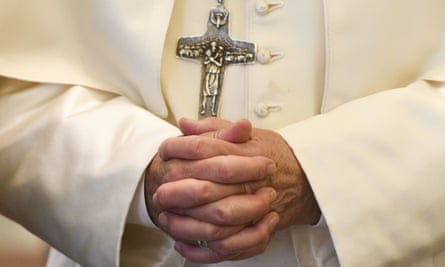 The hands of Pope Francis