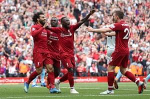 Liverpool celebrate.