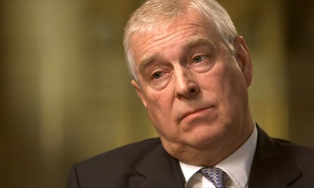 Prince Andrew during his BBC interview.