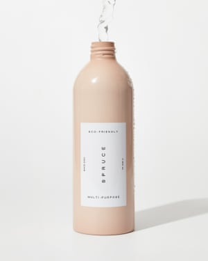 Spruce is a startup on kickstarter making reusable bottles and plastic-free refills of cleaning products to use in them. Multipurpose cleaner starter kit of aluminium bottle and three months supply of refill, £18, Spruce