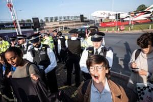 Activists protest at Heathrow terminal 1