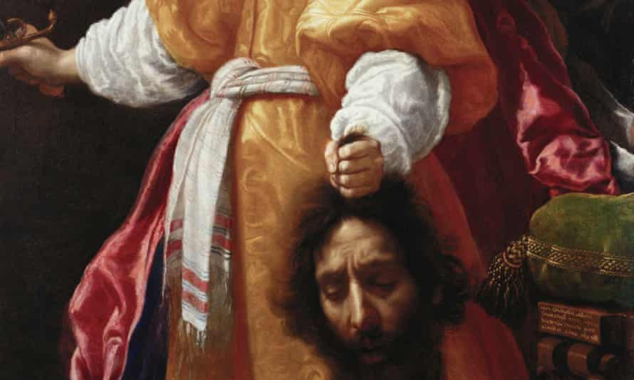 A detail from Judith with the Head of Holofernes by Cristofano Allori, in Masterpieces from Buckingham Palace.