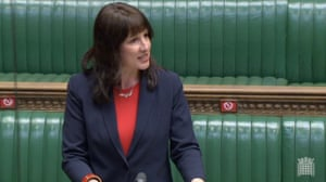 Rachel Reeves in the Commons this afternoon