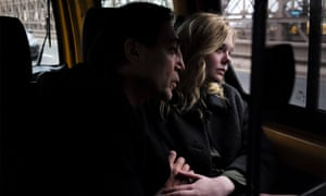 Javier Bardem and Elle Fanning in The Road Not Taken