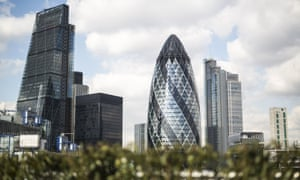 The City of London, where traders are getting ready for today's UK public finances