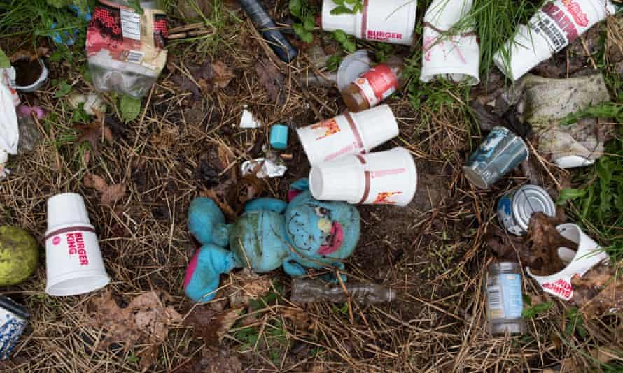 Drugs paraphernalia in a parking lot in Kingsport