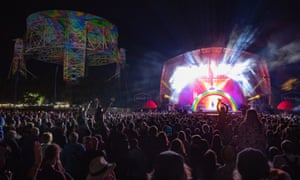 Flaming Lips perform at 2018's Bluedot festival, Macclesfield, Cheshire.