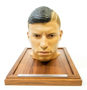 A 3D rendering of Manchester City's Sergio Aguero's head produced by EA Sports.