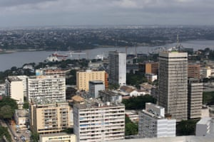 Buildings in the Plateau district in Abidjan, Ivory Coast