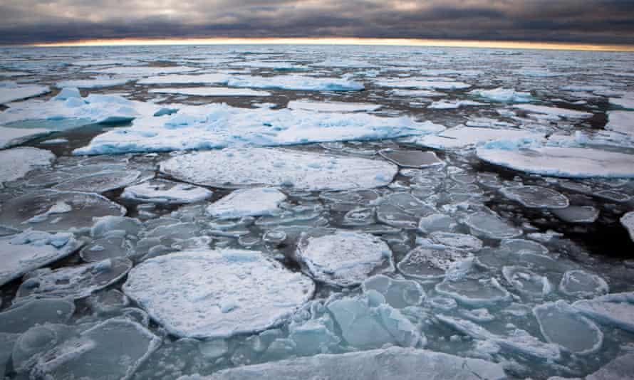 Sea ice off Greenland