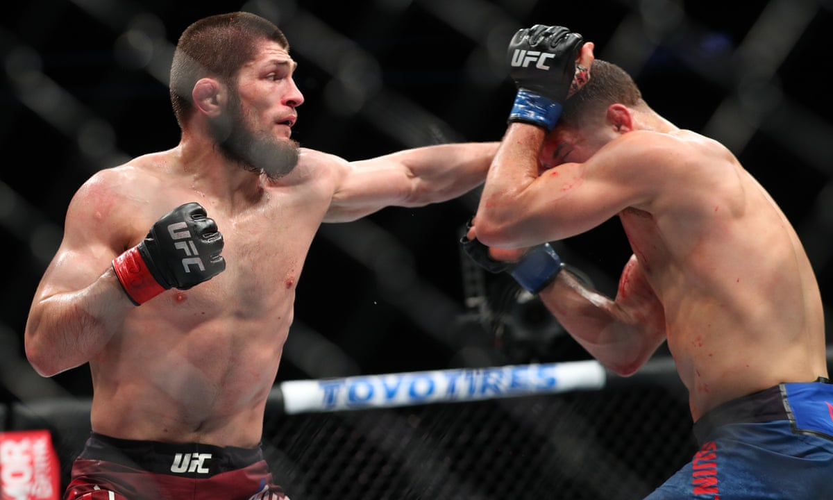 Now Just One Champion Khabib Nurmagomedov Takes Ufc Lightweight Title Ufc The Guardian