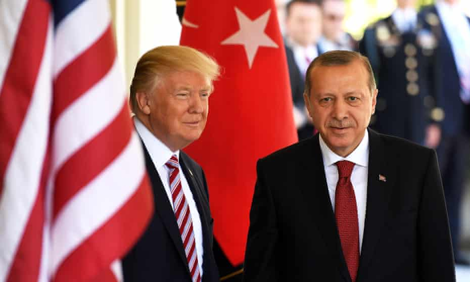 Donald Trump and Recep Tayyip Erdoğan