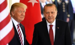 Donald Trump and Recep Tayyip Erdoğan at the White House