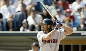 Johnny Damon of the Boston Red Sox