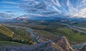 Royal Creek joins the Wind River, a tributary of the Peel River in northern Yukon Territory, Canada