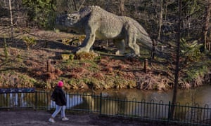 A model dinosaur in Crystal Palace park.