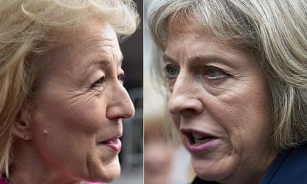Andrea Leadsom and Theresa May.