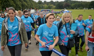 The actor, Vicky McClure at an Alzheimer's Society 'memory walk' in Nottingham