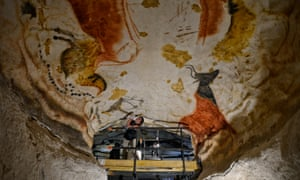 Some of the paintings in the Lascaux caves.