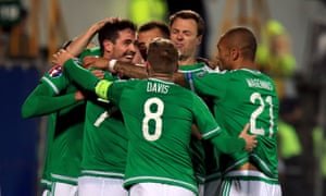 Kyle Lafferty celebrates after scoring to seal the win.