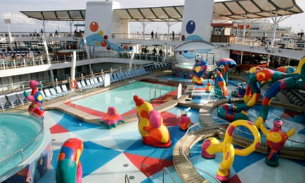 Swimming pool on Royal Caribbean cruise ship