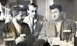 JP Donleavy, left, with Brendan Behan, right, and the director Philip Wiseman in Dublin in 1959, at the time that a play of The Ginger Man was being staged at the Gaiety theatre.