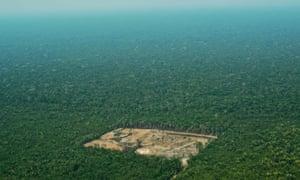 Deforestation in the western Amazon region of Brazil.