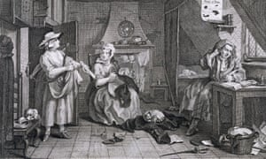 The Distressed Poet by William Hogarth – a contemporary depiction of Grub Street.