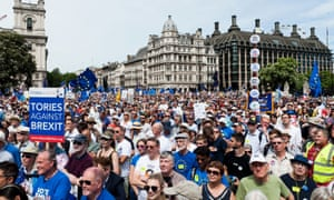 The People's March for a People's Vote in London on 23 June
