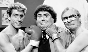 Eddie Large with Roger Daltrey of the Who and Little.