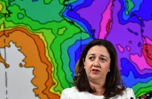 Annastacia Palaszczuk after a meeting of the state disaster management committee