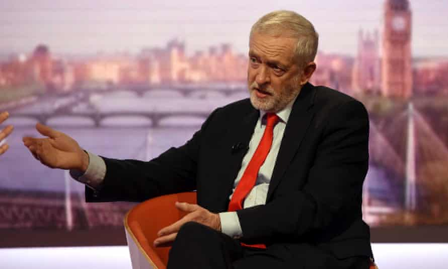 Jeremy Corbyn on the BBC's Andrew Marr Show in London