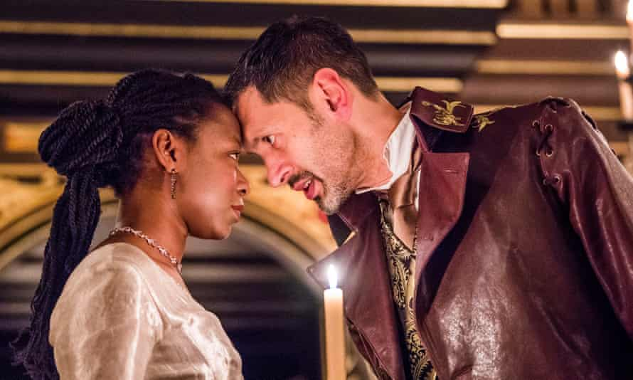 Mercy Ojelade as Isabella and Paul Bazely as Francisco.