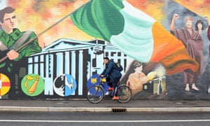 A mural on the Falls Road, west Belfast