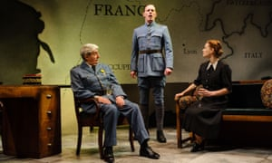 Laurence Fox on stage in The Patriotic Traitor with Tom Conti and Ruth Gibson.