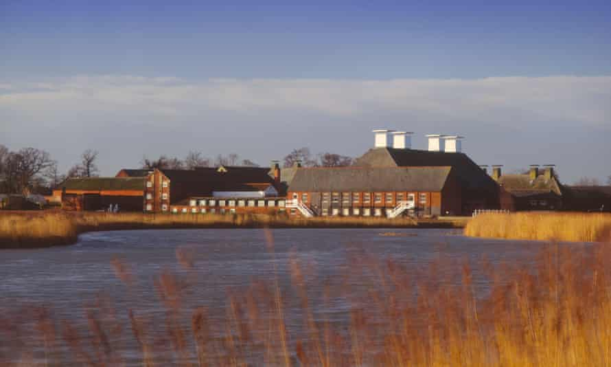 Snape Maltings, the home of the annual Aldeburgh festival in Suffolk. Derek Sugden oversaw the work on the innovative concert hall, which was opened to much acclaim in 1967.