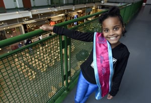 "Amariyanna ""Mari"" Copeny, 8, wearing a sash that states ""Miss Flint""."